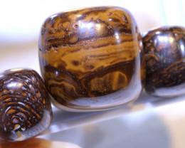 90.65 CTS-Yowah Opal Bead Parcel 3- pcs  Ro-2091  raniopals