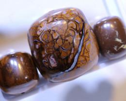 78.55 CTS-Yowah Opal Bead Parcel 3- pcs  Ro-2094  raniopals
