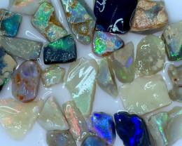 114.80 ct Opal Rough Lot Black Opals Lightning Ridge BORB140721
