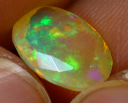 Welo Opal 1.48Ct Natural Faceted Ethiopian Play of Color Opal G1706/A44