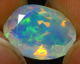 Welo Opal 2.40Ct Natural Faceted Ethiopian Play of Color Opal G1709/A44