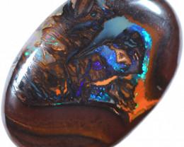 28.68 cts Koroit  opal  calibrated oval  stone [FJP4746]