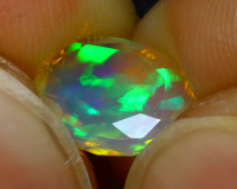 Welo Opal 1.20Ct Natural Faceted Ethiopian Play of Color Opal G1906/A44
