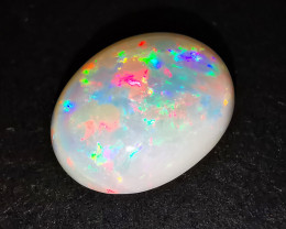 Coober Pedy Australia - High Grade Big White Crystal Opal - 4.6 cts