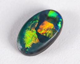 Lightning Ridge Australia - Solid Black Opal - 0.4 cts