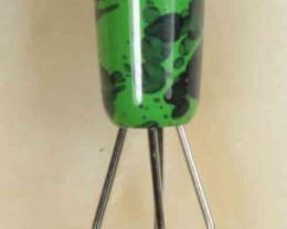 Brass Opal Grabber -Green
