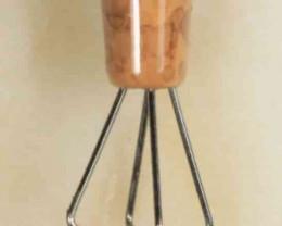 Brass Opal Grabber - Brown