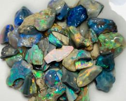 Multicolour Bright Small Size Rough Nobby Opals