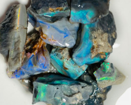 Select Black & Semi Black Rough Opals with All The Colours to Cut