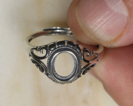 NO RESERVE!! Sam  -Silver 925 Ring Setting  7x6mm [37847] 53FROGS