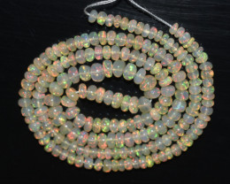 35.55 Ct Natural Ethiopian Welo Opal Beads Play Of Color OB11