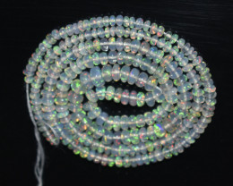 26.30 Ct Natural Ethiopian Welo Opal Beads Play Of Color OB18