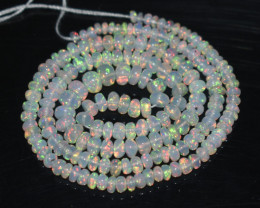 28.35 Ct Natural Ethiopian Welo Opal Beads Play Of Color OB20