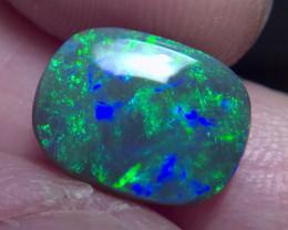 3.60cts Lightning Ridge Solid Top Gem Black Opal