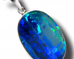 Australian Silver Opal Pendant Handmade Jewelry 10.6ct E58