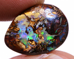 Koroit Boulder Opal Ring Stone AOH-1135  -australianopalhunter