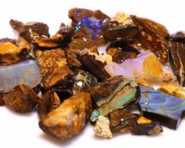 100 cts Yowah Opal Offcut Chip Rough Parcel ADO-10061       adopals
