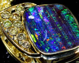 62.85CTS -  BOULDER OPAL 18k solid gold PENDANT INV-1196  Investmentopals