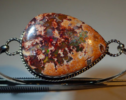60ct Natural Mexican Opal .925 Sterling Silver
