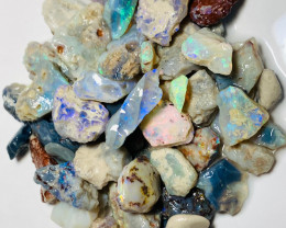 195 Cts of Rough Opals with Some Nice Colours to Explore