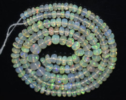 31.50 Ct Natural Ethiopian Welo Opal Beads Play Of Color OB22