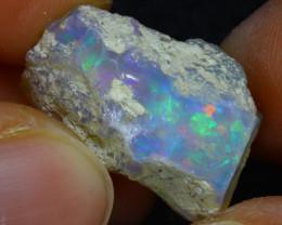 15.50Ct Multi Color Play Ethiopian Welo Opal Rough H2905/R2
