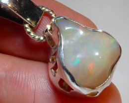 23.94ct Natural Ethiopian Welo Opal .925 Sterling Silver