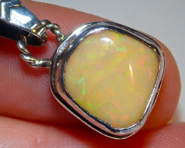 13.4ct Natural Ethiope Welo Opal .925 Sterling Silver