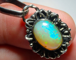 14.8ct Natural Ethiope Welo Opal .925 Sterling Silver