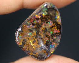 16.89 CTS DRILLED BOULDER OPAL STONE FROM WINTON -[BMB1729]
