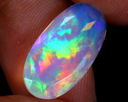 3.37cts Natural Ethiopian Faceted Welo Opal / UX1576