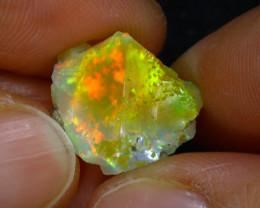 7.30Ct Multi Color Play Ethiopian Welo Opal Rough H3107/R2