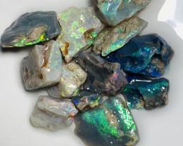 Multicolour Bright Rough Seam Opals to Cut #294