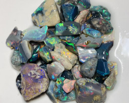 Plate of Colours-Various Sizes Multicolour Bright Opals- 86 CTs#297
