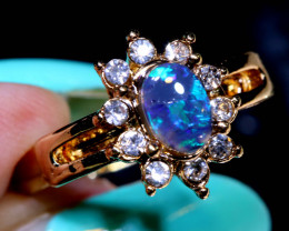 13 CTS DOUBLET OPAL RING OF-2997 OPALSFOREVER