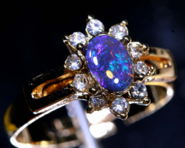 13 CTS DOUBLET OPAL RING OF-2998 OPALSFOREVER