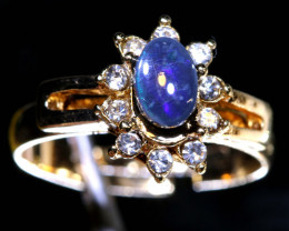13 CTS DOUBLET OPAL RING OF-2999 OPALSFOREVER
