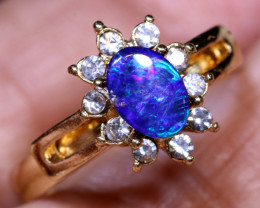 13 CTS DOUBLET OPAL RING OF-3000 OPALSFOREVER