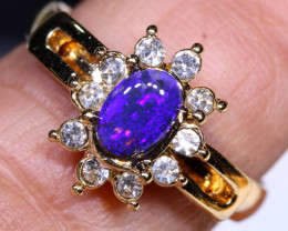 13 CTS DOUBLET OPAL RING OF-3001 OPALSFOREVER