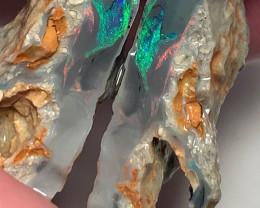 Stunning bright Dark Seam Opal Split to Carve & Polish Big Matching Pieces