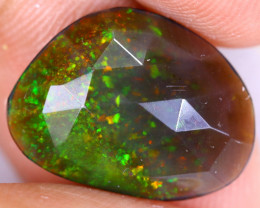 Rose Cut 3.45cts Natural Ethiopian Smoked Welo Opal / BF9779