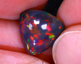 Welo Opal 2.26Ct Natural Smoked Ethiopian Play of Color Opal G0303/A3
