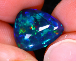 Welo Opal 2.57Ct Natural Smoked Ethiopian Play of Color Opal G0402/A3