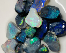 Cutters Black Opals- Bright Colourful Rough For Cutters #367
