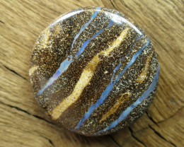 71cts, BOULDER OPAL~2 SIDED STONE.