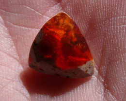 2.41 Ct Faceted Mexican Cantera Fire Opal Cabochon