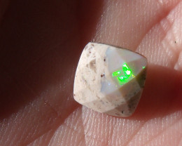 1.53 Ct Faceted Mexican Cantera Fire Opal Cabochon