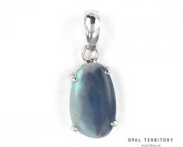 100% Australian Lightning Ridge Opal Pendant with Sterling Silver by OPAL T