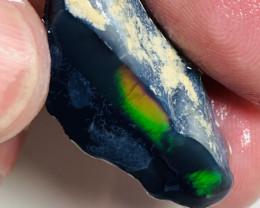 Multicolour Black Opal Rough/Rub For Collectors #404