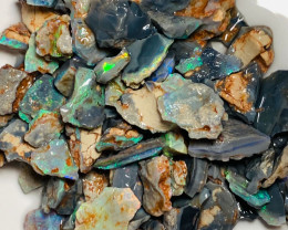210 Cts of Bright Multicolour Rough Opals to Keep Busy